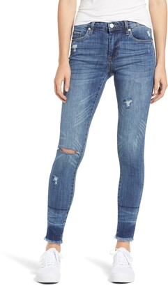 Blank NYC The Bond Distressed High Waist Ankle Skinny Jeans