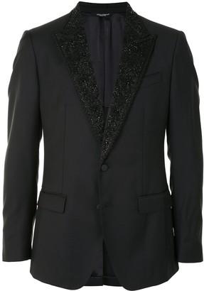 Dolce & Gabbana Applique Lapel Jacket