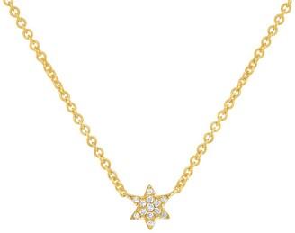 Ron Hami 14K Yellow Gold Diamond Star of David Pendant Necklace