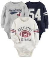 Carter's 3-Pk. Football Cotton Bodysuits, Baby Boys (0-24 months)