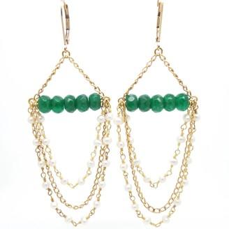 Candy Jade Chandelier Earrings