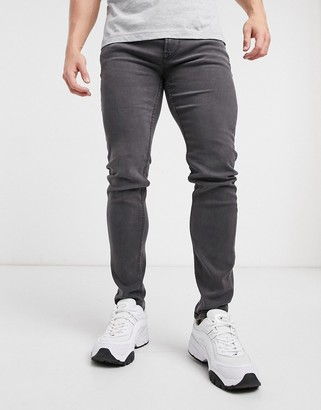 ONLY & SONS skinny fit jeans in gray