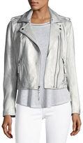 Joie Leolani Metallic Leather Jacket