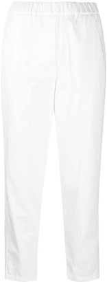 Alysi Elasticated Cropped Trousers