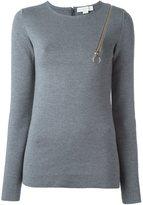 Stella McCartney zip shoulder detail top - women - Polyamide/Spandex/Elastane/Wool - 40
