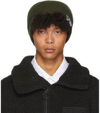 Visvim Khaki Knit Wool Beanie