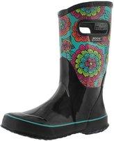 Bogs Girls' Pansies Tall Rain Boot 6 M US