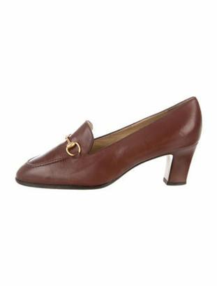 Gucci Horsebit Loafer Pumps Brown