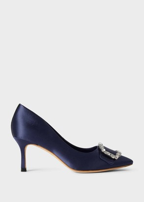 Hobbs Lucinda Satin Jewel Court Shoes