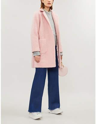 Ganni Women's Dark Grey Fenn Wool Blend Coat