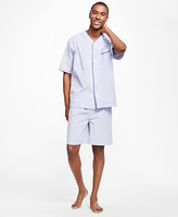 Brooks Brothers Seersucker Candy Stripe Short Pajamas