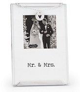 Mud Pie Wedding Collection Mr. & Mrs. Clip Frame
