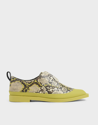 Charles & Keith Snake Print Loafers