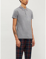 Tommy Hilfiger Brand-embroidered slim-fit cotton-pique polo shirt