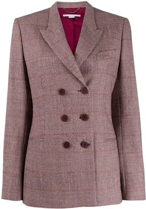Stella McCartney Double-Breasted Check Blazer