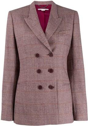 Stella McCartney double-breasted check blazer