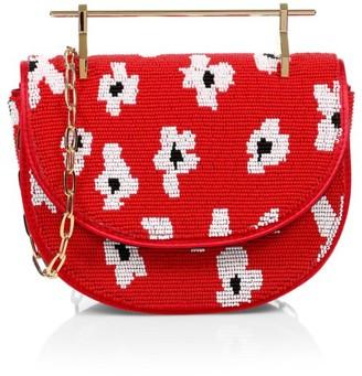 M2Malletier M2M x Pura Utz Mini Floral Beaded Top Handle Bag