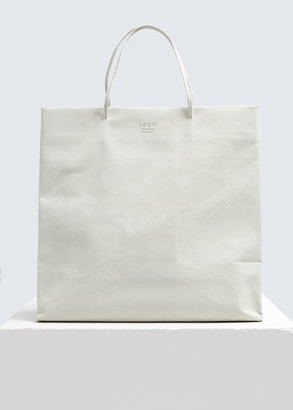 Loom Medium Fake Paper Shopper in White