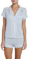 Eberjey Cabana Girl Printed Short Pajama Set, Chambray