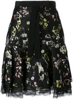 Giambattista Valli floral lace trim skirt