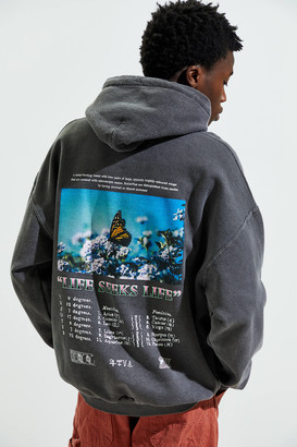 Urban Outfitters Butterfly Dream Overdyed Hoodie Sweatshirt