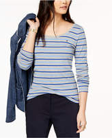 Tommy Hilfiger Cotton Striped Top, Created for Macy's