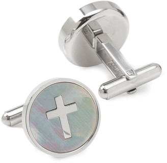 Cufflinks Inc. Men's Cross Mother-of-Pearl Cufflinks