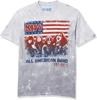 Liquid Blue Kiss All American Band Flag 1973 T-Shirt