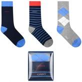 Gant GantBoys Navy Socks Set (3 Pack)