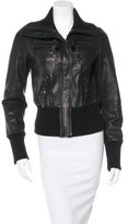 Thomas Wylde Leather Zip-Accented Jacket