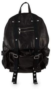 Balmain Leather Satchel Backpack
