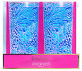 Lilly Pulitzer Blue Tang Gang Acrylic Highball Glass Pair