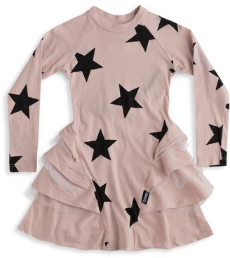 Nununu Little Girl's & Girl's Star Multi-Layered Dress