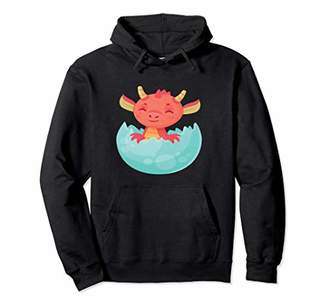 Dragon Optical Baby Hatching Out of Egg Kawaii Japan Inspired Pullover Hoodie