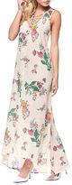 Dex Floral-Print Lace-Up Gown