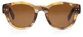 Bottega Veneta Round-frame acetate sunglasses