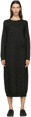 LAUREN MANOOGIAN SSENSE Exclusive Black Alpaca and Wool Fluffy Dress