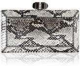Judith Leiber Couture Coffered Snakeskin Minaudiere Clutch Bag