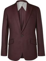 Hackett Burgundy Duke Basketweave Wool Blazer - Burgundy