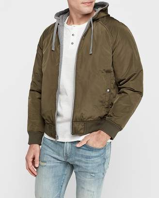 Express Reversible Fleece Bomber Jacket