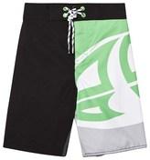 Animal Black and Green Benny Branded Boardshorts