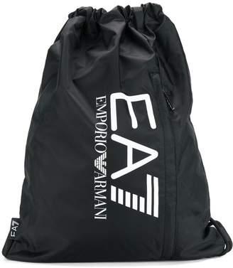 Emporio Armani Ea7 drawstring logo backpack