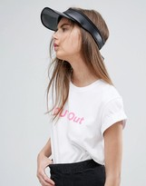 Asos Clear Brim Visor Hat In Black