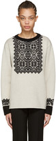 Chloé Beige Wool Stencil Sweater