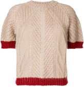 Vionnet contrast knitted top