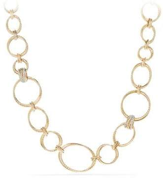 David Yurman Crossover® Convertible Necklace With Diamonds In 18K