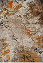 "Dalyn Closeout! Modern Abstracts Terrene Tangerine 9'6"" x 13'2"" Area Rug"