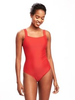 Old Navy Square-Neck Tie-Back Swimsuit for Women