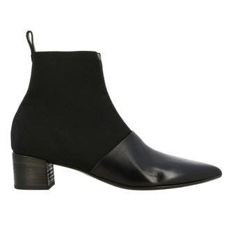 Marsèll El Stuzzichino Leather And Canvas Ankle Boots