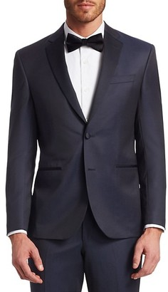 Saks Fifth Avenue MODERN Wool Tuxedo Jacket